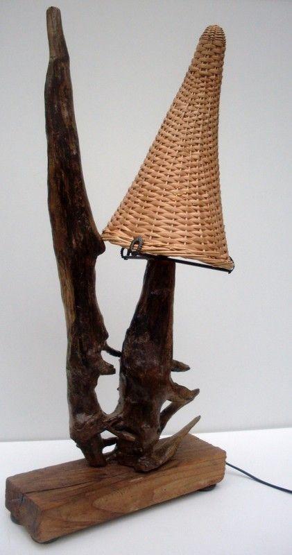 lampes bois flotte. Black Bedroom Furniture Sets. Home Design Ideas
